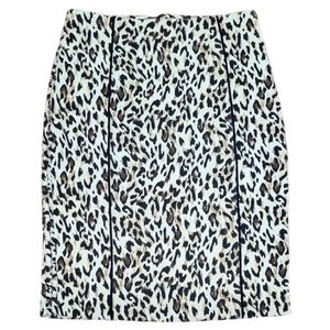 White House Black Market Pencil Leopard Skirt 4